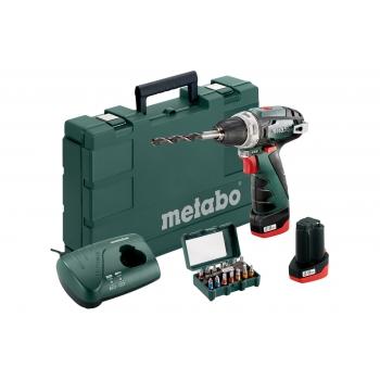 Дрель-шуруповерт аккум. METABO PowerMaxx BS Basic + BitBox 15 шт. (690954000)